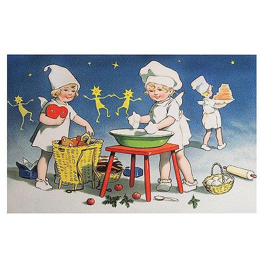 フランスクリスマス ポストカード (Recettes secretes A)