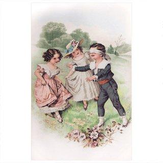 ビクトリアン フランスポストカード (Colin-Maillard)