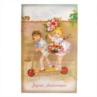 バラ ローズ 雑貨 フランスポストカード (Joyeux anniversaire T)