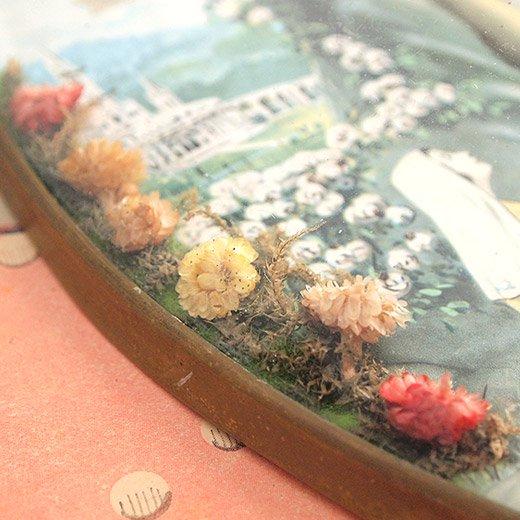 フランス アンティーク 壁掛け フラワーフレーム souvenir【ルルドの泉】【画像3】