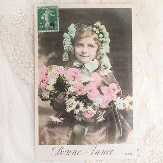 アンティーク フランス アンティーク ポストカード【bonne annee C】