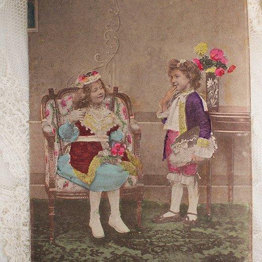 フランス アンティーク ポストカード【deux personnes B】【画像2】