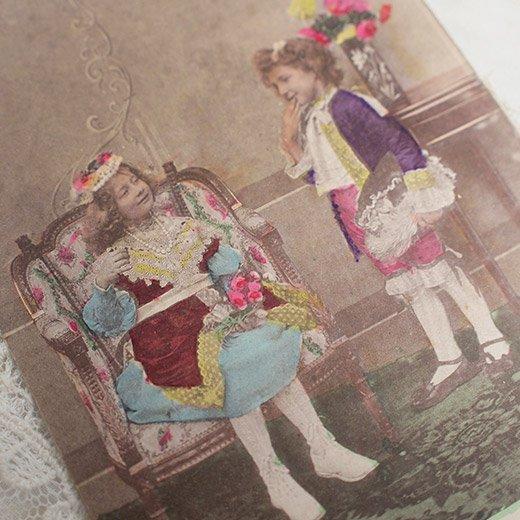 フランス アンティーク ポストカード【deux personnes B】【画像3】