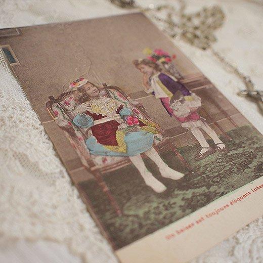 フランス アンティーク ポストカード【deux personnes B】【画像4】