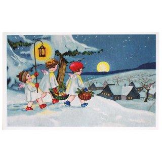 クリスマス フランスポストカード (Nuit de Noel)
