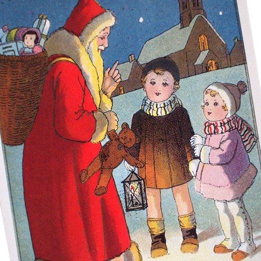 フランス クリスマスポストカード (Nuit de Noel 5)【画像3】