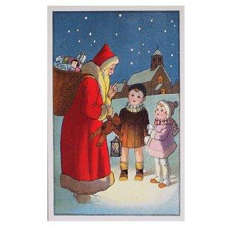 フランス クリスマスポストカード (Nuit de Noel 5)