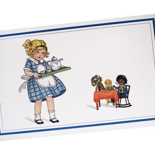 フランスポストカード おままごと チェックワンピース(dinette)【画像2】