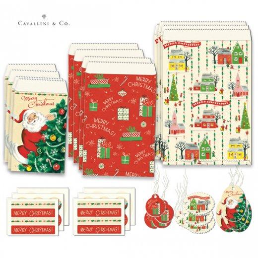 Cavallini & Co. カバリーニ クリスマス ラッピングセット【ヴィンテージ クリスマスA】【画像2】