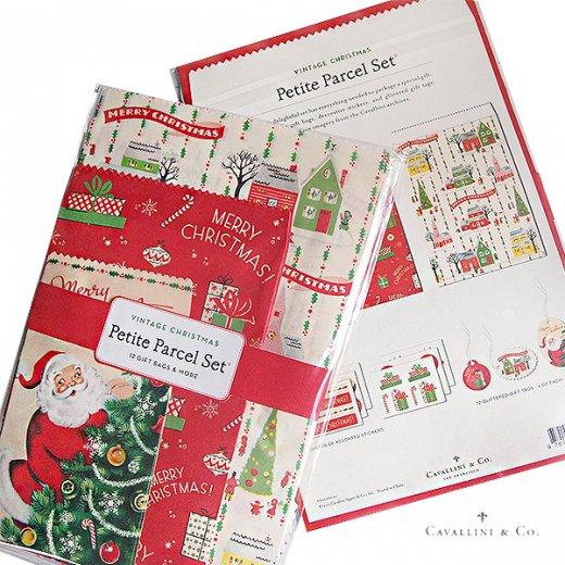 Cavallini & Co. カバリーニ クリスマス ラッピングセット【ヴィンテージ クリスマス】