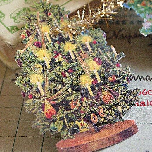 ドイツ クロモス【タグ】<クリスマスツリー6枚セット>【画像3】