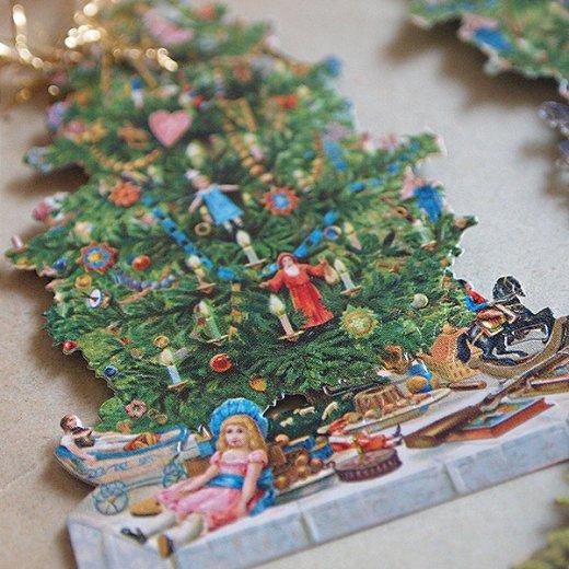 ドイツ クロモス【タグ】<クリスマスツリー6枚セット>【画像4】