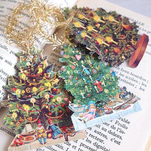 ドイツ クロモス【タグ】<クリスマスツリー6枚セット>【画像5】