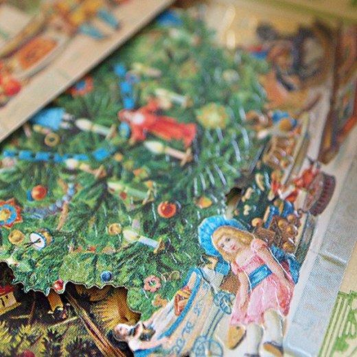 ドイツ クロモス【タグ】<クリスマスツリー6枚セット>【画像7】