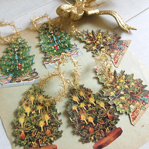 ドイツ クロモス【タグ】<クリスマスツリー6枚セット>【画像8】