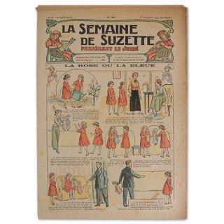 バラ ローズ 雑貨 フランス La Semaine de Suzette(アンティーク週間誌)