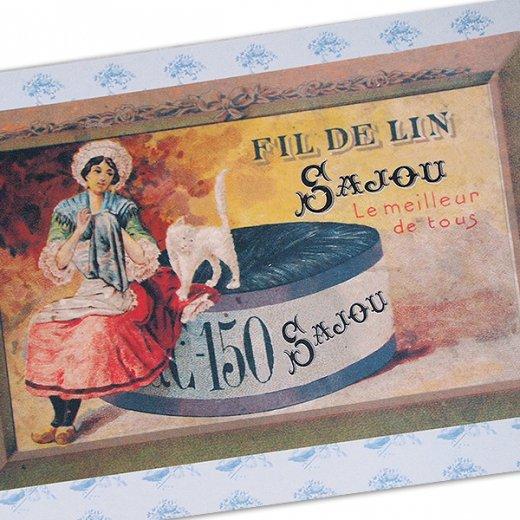 フランス SAJOU ポストカード【fil de lin】【画像2】