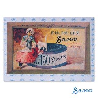 森ガール 雑貨 フランス SAJOU ポストカード【fil de lin】