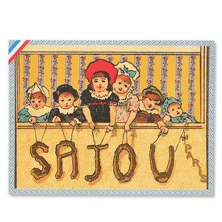 森ガール 雑貨 フランス SAJOU ポストカード【Enfants】