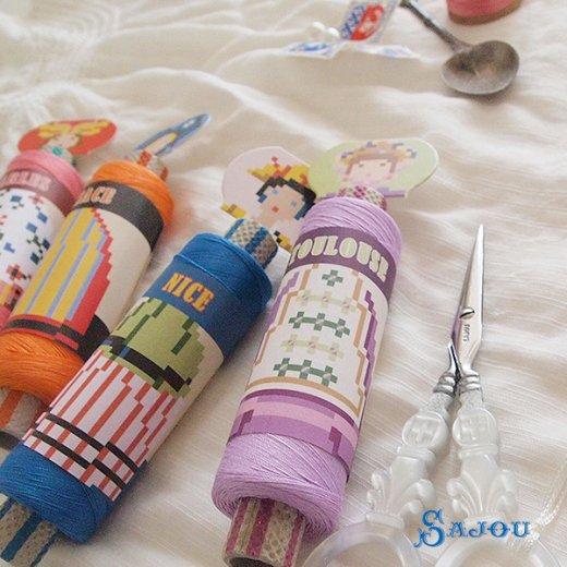 フランス SAJOU (ドール 糸巻き)【doll】【画像10】