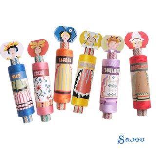 フランス SAJOU (ドール 糸巻き)【doll】