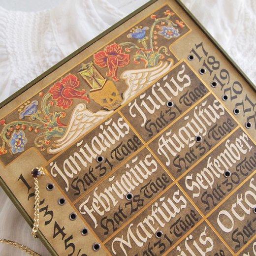 ドイツ アンティーク 万年カレンダー 【画像2】