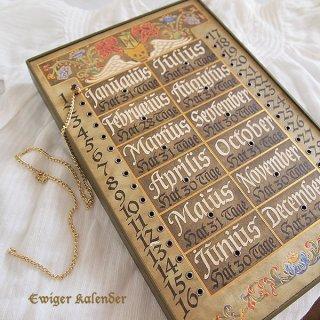 天使 エンジェル 雑貨 ドイツ アンティーク 万年カレンダー