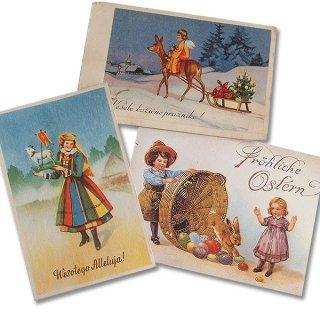 アンティーク ドイツ アンティーク ポストカード3枚セット