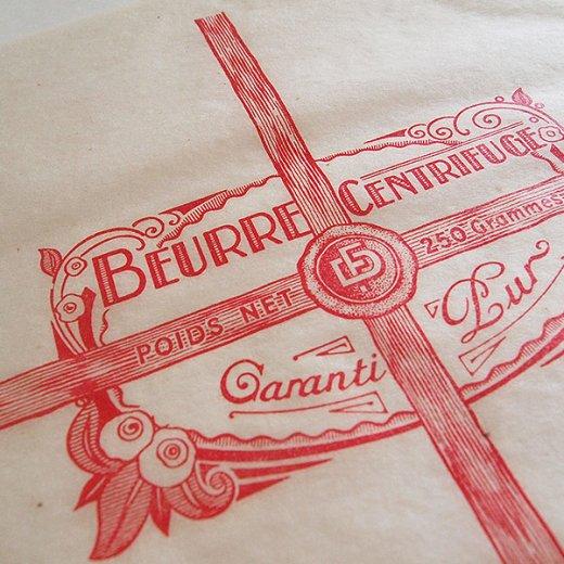 フランス 1940' アンティーク紙【Vintage Butter Wrappers】【画像3】