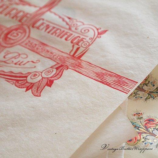 フランス 1940' アンティーク紙【Vintage Butter Wrappers】【画像8】