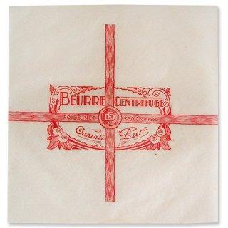 味紙 ラベル チケット 伝票 フランス 1940' アンティーク紙【Vintage Butter Wrappers】