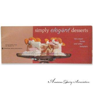 アンティーク アメリカ レシピブック Simply elegant desserts(ビンテージ本)