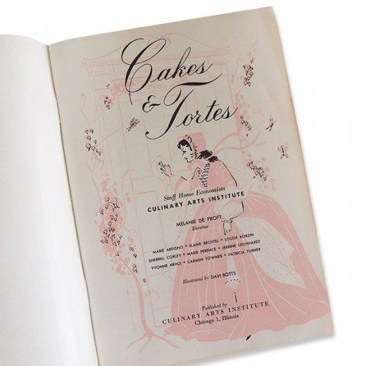 アメリカ レシピブック CAKES AND TORTES(ビンテージ本)【画像3】