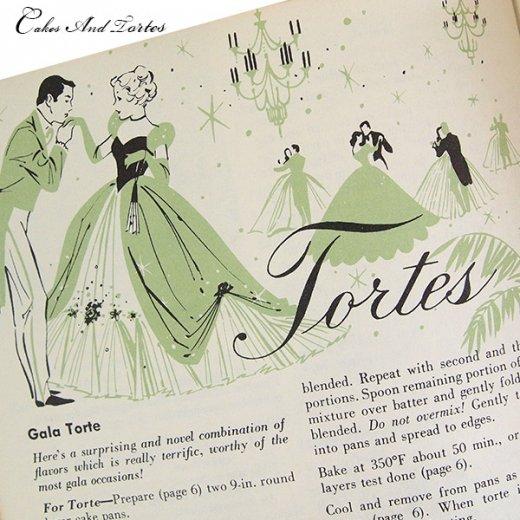 アメリカ レシピブック CAKES AND TORTES(ビンテージ本)【画像4】