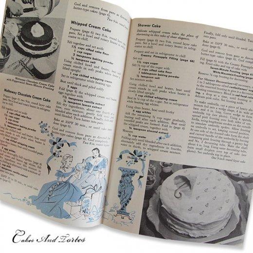アメリカ レシピブック CAKES AND TORTES(ビンテージ本)【画像6】
