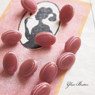 ボタン 手芸用品 チェコ製 ヴィンテージ ガラスボタン 10ヶセット【Red】