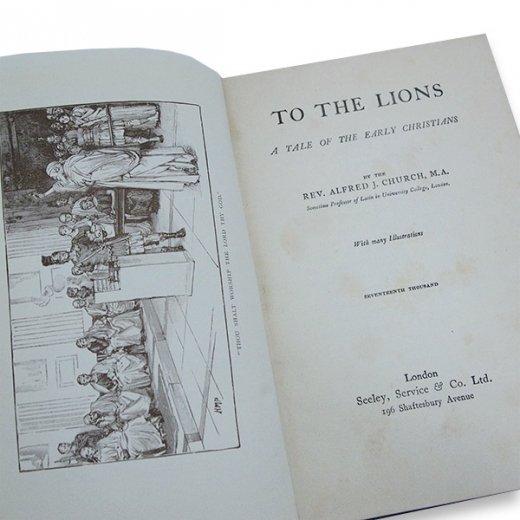 イギリス アンティーク本 【To・The Lions】【画像2】