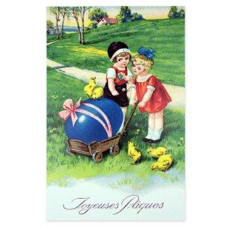 ガーリー 雑貨 フランス  イースター 復活祭  ポストカード (Paques M)