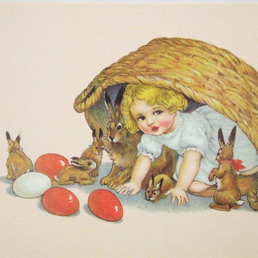 フランス イースター 復活祭 ポストカード (Paques N)【画像3】