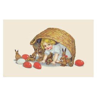フランス イースター 復活祭 ポストカード (Paques N)
