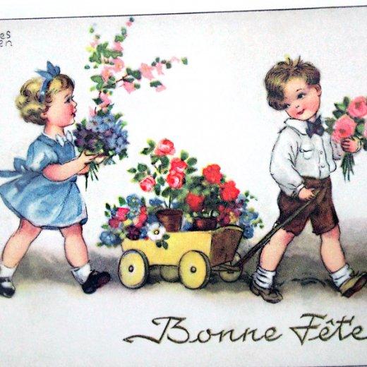 フランスポストカード (Bonne fete C)【画像3】