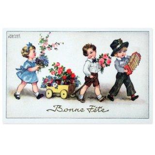 ガーリー 雑貨  フランスポストカード (Bonne fete C)