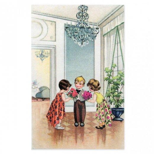 フランスポストカード (avoir une fille a chaque bras)