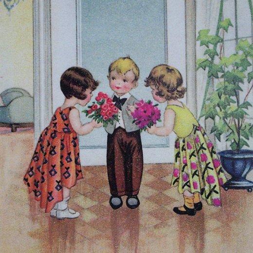 フランスポストカード (avoir une fille a chaque bras)【画像3】