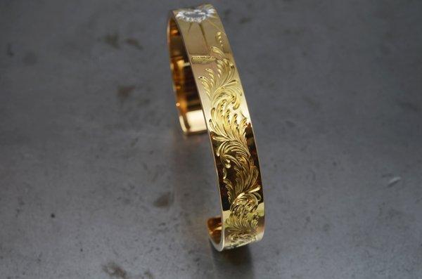 arabesque design bangle 10mm/ k20