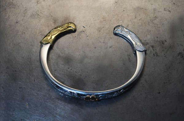 eagle face bangle/k18 face・arabesque...