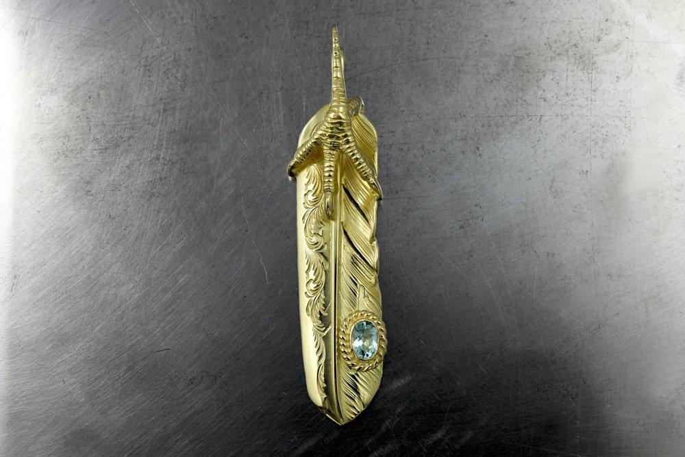 Arabesque feather claw/ Paraiba Tourmaline 01