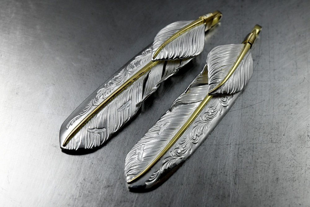 Arabesque feather core-gold・Heart feather core-gold