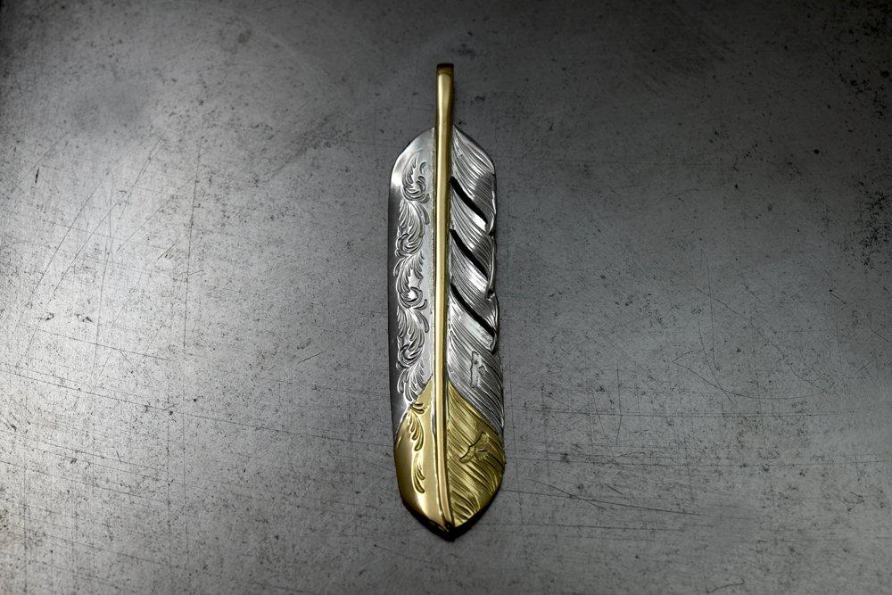 Arabesuque design feather / core, tip gold01