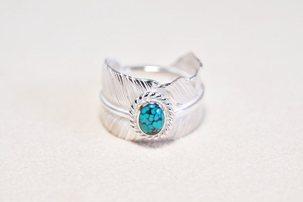 feather Ring/turquoise